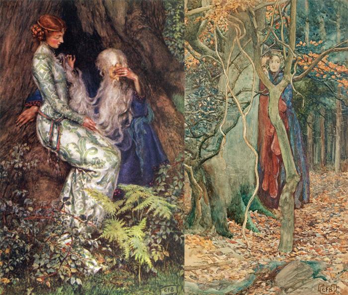 Элеанор дружила с последними прерафаэлитами и переняла их любовь к средневековью.